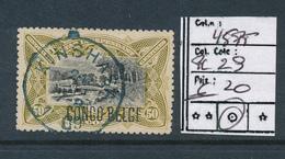 "BELGIAN CONGO 1909 ISSUE ""PRINCES"" COB 45PT PLATE POSITION 29 USED - Congo Belge"