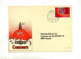 Carte Concoursrossi Cachet Mendrisio Theme Ski - Marcophilie