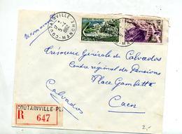 Lettre Recommandée Coutainville Sur Cognac Kerratra - Poststempel (Briefe)