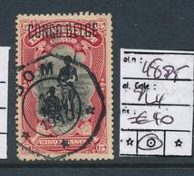 "BELGIAN CONGO 1909 ISSUE ""PRINCES"" COB 48 PT PLATE POSITION 4 USED - Congo Belge"
