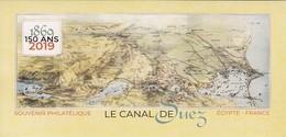 2019 Bloc Souvenir 150 Ans Du Canal De Suez ** Neuf Sous Blister - Foglietti Commemorativi