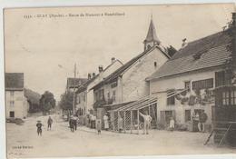 Glay  25   La Route De Blamont A Montbeliard -Café Et Route Tres Tres Animées - France