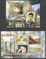 BC546 2012 GUINE GUINEA-BISSAU ART 145 ANNIVERSARY PIERRE BONNARD 1BL+1KB MNH - Art
