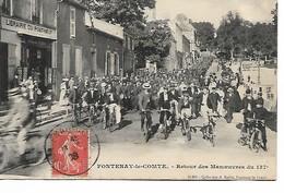 FONTENAY Le COMTE - Retour Des Manoeuvres 137e Régiment D'Infanterie - Régiments