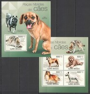 BC455 2012 GUINE GUINEA-BISSAU FAUNA ANIMALS PETS HYBRID BREED DOGS RACES KB+BL MNH - Hunde