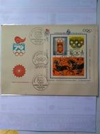 Uruguay Souvenir Sheet Imperf Moscow Moscú 80 Bloc 32 Yvert Rare Fdc With 3 Pmks Of  Philatelic Show.very Rare. - Zomer 1980: Moskou