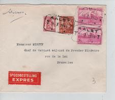 REF113/ TP 762-770(2) Exportation -479 S/L.Exprès C.T.T.Aalst 10/1/1949 > BXL - Belgique