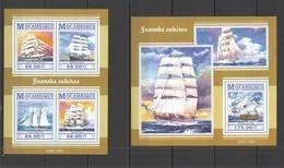 ST2283 2015 MOZAMBIQUE MOCAMBIQUE TRANSPORT SHIPS GRANDES VELEIROS KB+BL MNH - Barche