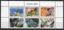 2008 SURINAM 1945-47** Poissons + Vignettes - Suriname