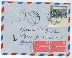 Congo //  Lettre Taxée Pour La Suisse - Gebraucht