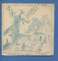 Chromo Image Devinette ILLUSION OPTIQUE Vieux Moulin Environs De Saint-Mandé Meunier Ane Vleeschouver Paris - Chromos
