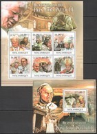 BC1015 2011 MOZAMBIQUE MOCAMBIQUE BEAUTIFICATION POPE JOHN PAUL II KB+BL MNH - Papes