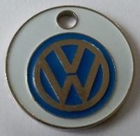 Jeton De Caddie - Automobiles - VW - Volkswagen - Garage SAINT-CHRISTOPHE - 29 BREST - En Métal - Neuf - - Jetons De Caddies