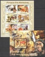 BC1040 2011 MOZAMBIQUE MOCAMBIQUE ART PREHISTORIC PAINTINGS KB+BL MNH - Otros