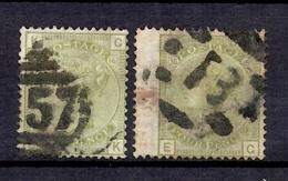 Grande-Bretagne YT N° 59 (2) Oblitérés. A Saisir! - 1840-1901 (Regina Victoria)