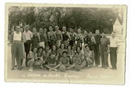 Photo 10.5 X 15.5 - Section De Basket - Tournus (71) - Saison 1950-51 - Sport