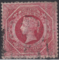 New South Wales 1860-63 Used Sc 42b 1sh Queen Victoria Perf 12 - 1850-1906 New South Wales