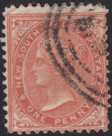 New South Wales 1863-64 Used Sc 47 1p Queen Victoria Perf 13 Wmk Inverted - 1850-1906 New South Wales