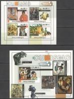 BC1061 2011 MOZAMBIQUE MOCAMBIQUE ART PAINTINGS CUBISM PICASSO CEZANNE BRAQUE KB+BL MNH - Other