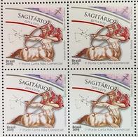 Brazil Stamp Selo Signos Do Zodíaco Sagitário Sagittarius Zodiac Signs 2019 Quadra - Brazilië