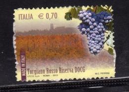ITALIA REPUBBLICA REPUBLIC 2013 MADE IN ITALY VINI DOCG WINES TORGIANO ROSSO RISERVA USATO USED OBLITERE' - 2011-...: Usati