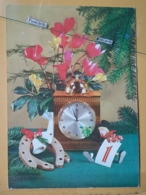 KOV 8-156 - NEW YEAR, Bonne Annee, Ramoneur, Chimney Sweep, Champignon, Mushroom, Clock, Horloge - Anno Nuovo