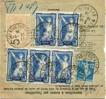 FRANCE THEME JEUX OLYMPIQUES BULLETIN D'EXPEDITION D'UN COLIS DEPART STRASBOURG 13-9-24 BAS RHIN POUR LA FRANCE - Ete 1924: Paris