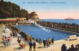 CPA - MONACO - MONTE CARLO - BEACH - LA PISCINE OLYMPIQUE - Monte-Carlo