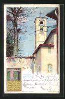 Lithographie Brunate, Chiesa Di Brunate - Italia