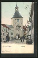 Künstler-AK Vöcklabruck, Vorstadtplatz Mit Glockenturm - Austria