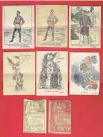 JOURNEES DES EPROUVES DE LA GUERRE 1914 1918 WWI LOT 2 POCHETTES ET 6 GRAVURES - 1914-18