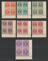 "Egypt - 1952 - Rare - Corner Control, Block Of 4 - ( Postage Due - Overprinted ""King Of Misr & Sudan"" ) - MNH** - Nuevos"