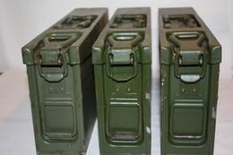 Lot De 3 Caisses De Munitions MG-3 Allemande Année 50'/60'/70' - Equipement