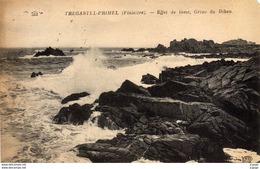 TREGASTEL-PRIMEL - Effet De Lame - Grève De Diben  Carte écrite En 1920  2 Scans - Primel