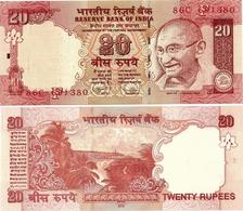 INDIA      20 Rupees      P-96q       2012       UNC  [ Sign. Subbarao - Letter F ] - Indien