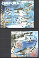 BC1222 2011 MOZAMBIQUE FAUNA MARINE LIFE SHARKS TUBAROES 1KB+1BL MNH - Marine Life