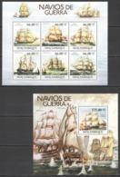 BC1236 2011 MOZAMBIQUE MILITARY SAILING SHIPS & BOATS NAVIOS DE GUERRA 1KB+1BL MNH - Barche