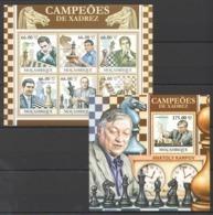 BC1244 2011 MOZAMBIQUE MOCAMBIQUE SPORT CHESS CHAMPIONS CAMPEOES DE XADREZ 1SH+1BL MNH - Chess