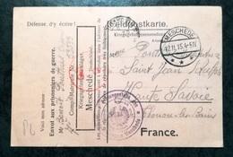 Feldpostkarte - F.A.  1915 - MESCHEDE  à THONON LES BAINS - Allemagne