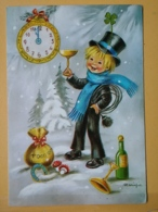 KOV 8-156 - NEW YEAR, Bonne Annee, Ramoneur, Chimney Sweep, Champignon, Mushroom, Trefle, Champagne - Nouvel An