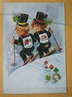 KOV 8-157 - NEW YEAR, Bonne Annee, Ramoneur, Chimney Sweep, Champignon, Mushroom, Trefle, - Anno Nuovo