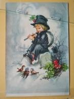 KOV 8-157 - NEW YEAR, Bonne Annee, Ramoneur, Chimney Sweep, Champignon, Mushroom, Oiseau, Bird - Anno Nuovo