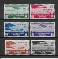Tripolitaine Poste Aérienne N°25/30  - Neuf * Avec Charnière Très Légère - TB - Tripolitania