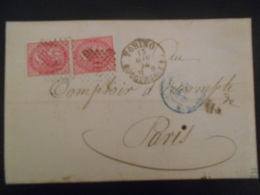 Italie Lettre De Torino 1874 Pour Paris - Poststempel