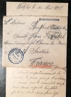 Enveloppe  - Kriegsgetangenensendung  1915 - GIESSEN à THONON LES BAINS Avec Sa Lettre - Allemagne