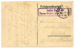 Feldpost 1911, Leichte Mun. Kol. Thorn Er Feldart.-Regt. 61, 35 Inf. Div. - Deutschland