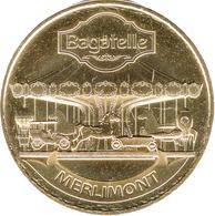 62 MERLIMONT PARC BAGATELLE LE TWIST'AIR MÉDAILLE MONNAIE DE PARIS 2017 JETON TOKEN MEDALS COINS - Monnaie De Paris