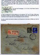 Enveloppe Recommandée Le Havre 1919 Perforés JD 31 - France