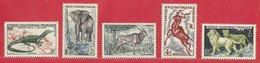 Afrique équatoriale Française N°235 &  238 à 241 1955-57 ** - A.E.F. (1936-1958)