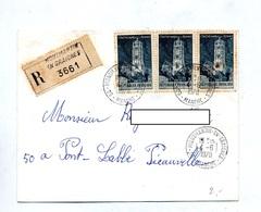 Lettre Recommandée Montmartin Sur Rodez - Poststempel (Briefe)